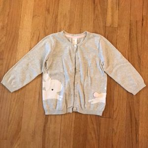 Little girls bunny sweater